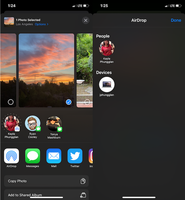 How to AirDrop photos from iPhone to Mac