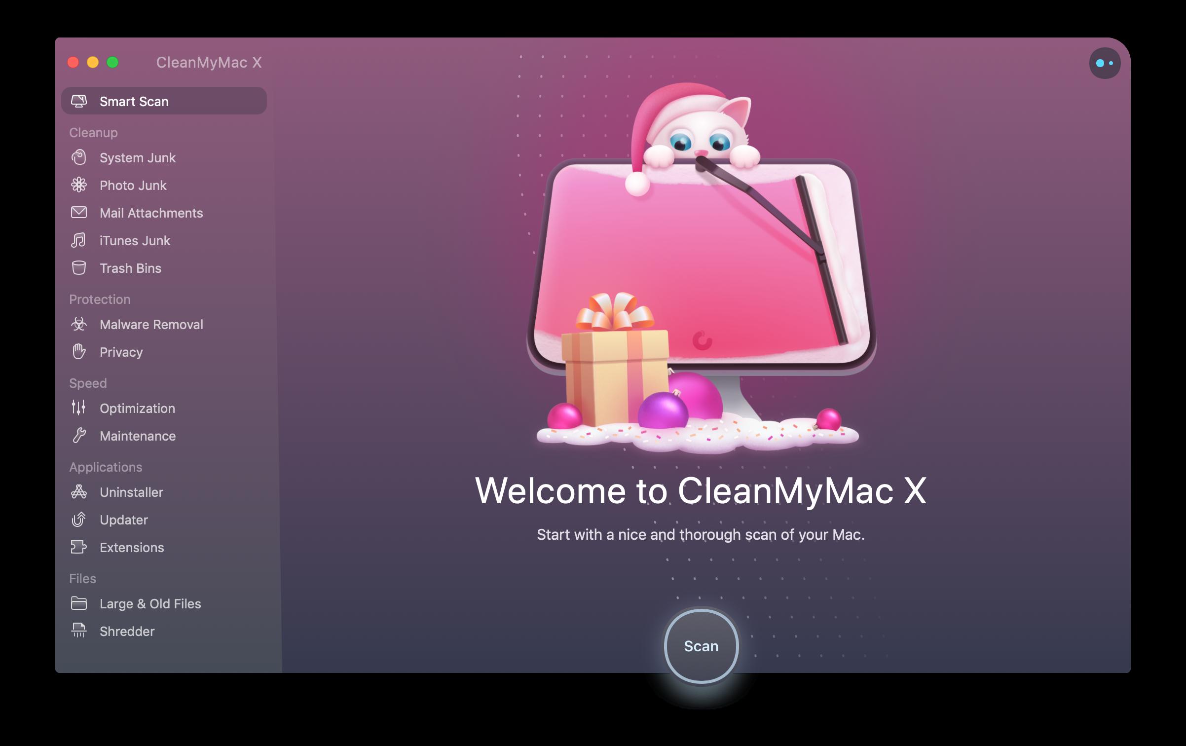 عيد ميلاد سعيد ، CleanMyMac X! 2