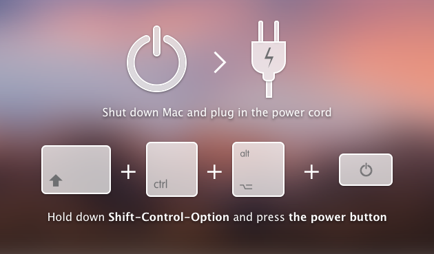 How to reset SMC — Mac setup update