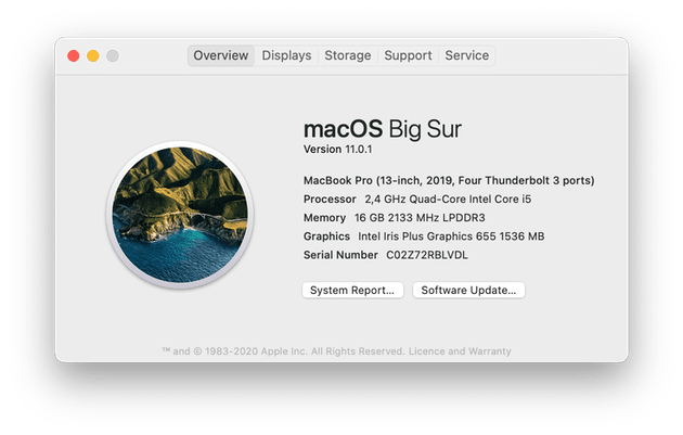 how to check macOS version