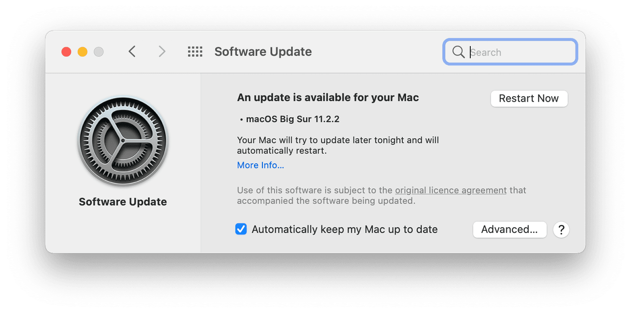 Check for software updates on Mac