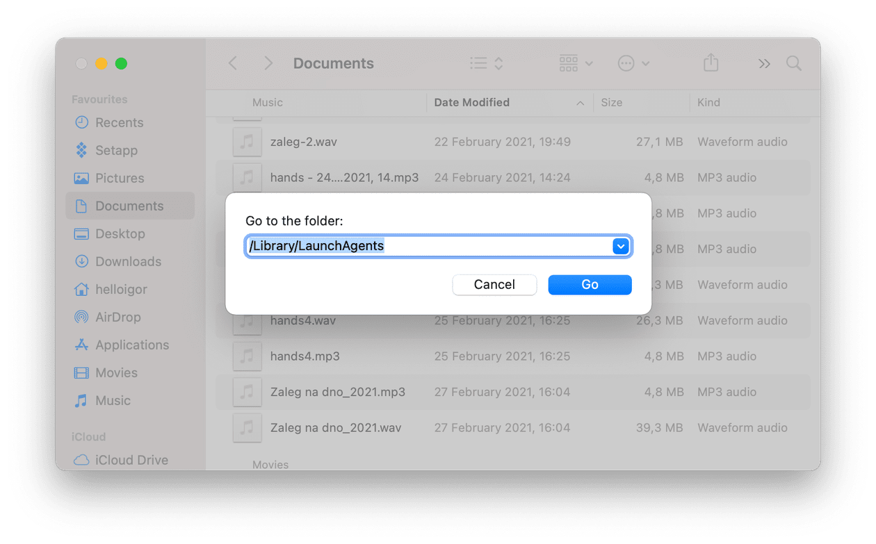 How to clear launch agents on Mac