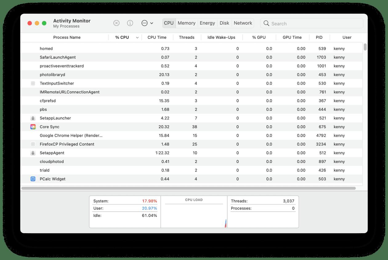 How to monitor Mac CPU