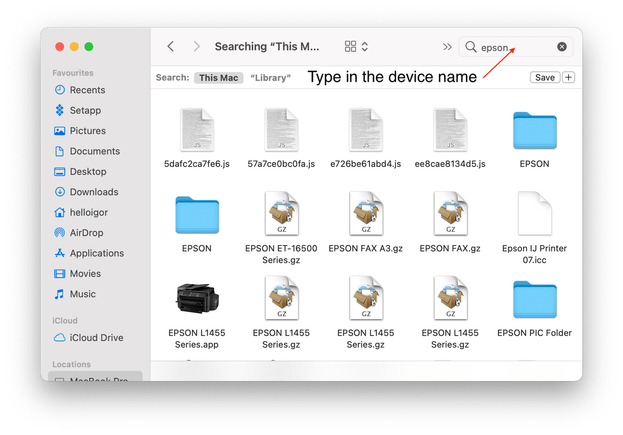 How to find drivers in Finder