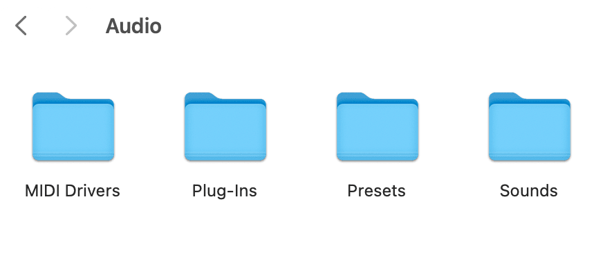 macOS folders with drivers