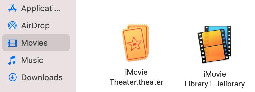 iMovie library icons