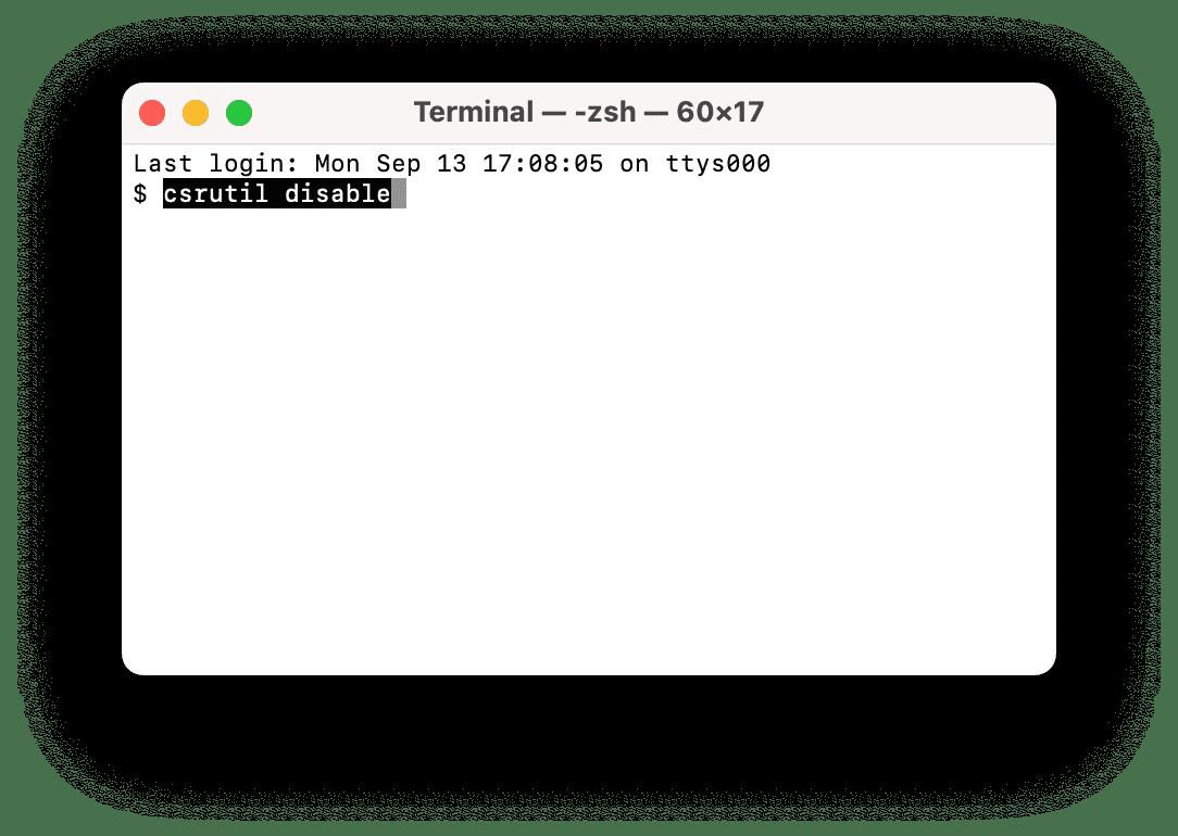 Mac Terminal window
