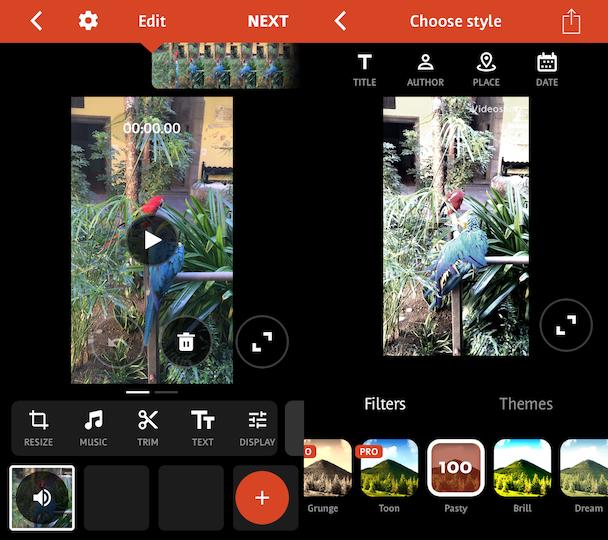 Videoshop, an iPhone video editor app