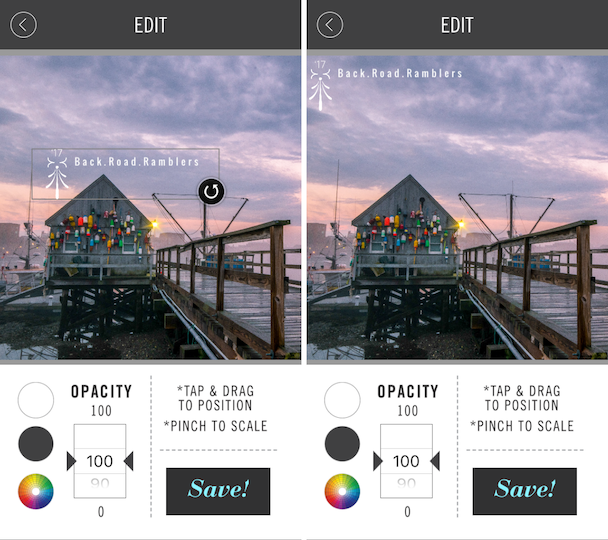 Screenshots: Where to put the watermark on your photos
