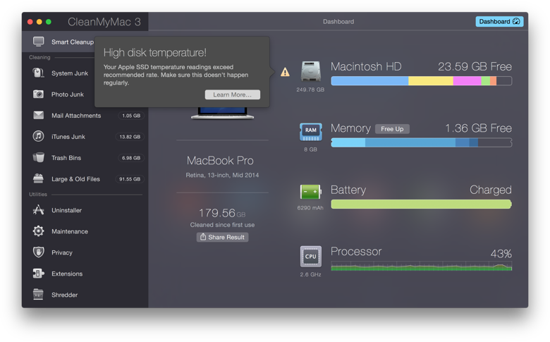 CleanMyMac 3: Bring your Mac back into shape