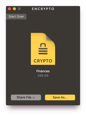 Encrypto: Securely encrypt your files before sending them to