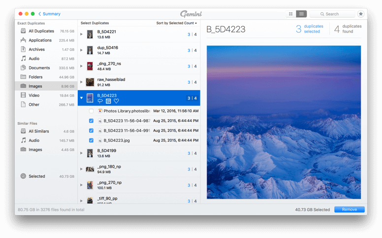 Gemini 2: The Best Duplicate File Finder for Mac  Smart selection and fast  scan
